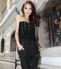 2012 Newest style fashion elegant tassel off-shoulder jumpsuits for women