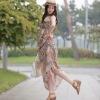 Bohemia Style Harness Long Maxi Chiffon Dress