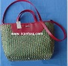 fashional paper straw handbag with long strap