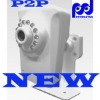 P2P INDOOR MINI WIRELESS IP CAMERA IR CUT with auto day/night switching and on-camera recording/storage