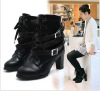 women european style fashion boots with pu
