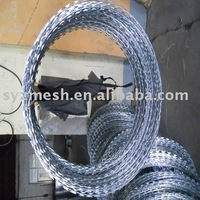 galvanized concertina razor wire with clips