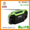 Hot Portable Digital Display Solar Dynamo LED Radio