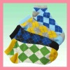 colorful golf footie sock wth plaid