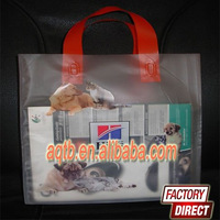 frosted loop handle plastic carrier bag(soft loop handle bag)
