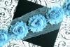 Baby Blue Chiffon Flower Shabby Trim