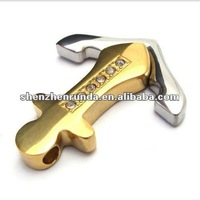 2012 Wholesale Newest Stainless Steel Cross Pendant With Steel Crystal Pendant
