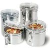 Stainless Steel 4-piece Airtight Canister Set