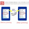 rfid card with rewritable printing