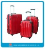 3pc PC material red clour trolley case set