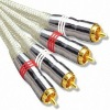 digital audio optical cable,rca digital fiber ,DVD / VCR audio & vedio cable,RCA Plugs with Transparent Cable