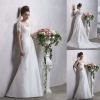 Matching Short Sheeves Lace Wrap A Line Sweetheart Court Train Wedding Dress Bridal Gown
