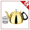 Golden Stainless Steel Tea Kettle with A Bakelite Handle