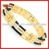 IP Gold Magnetic Trio Cable Cuff Wire Bracelet
