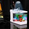 mini table plastic USB aquarium with table lamp