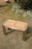 stainless steel teak wood stool