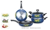 Non-stick enamel cookware set