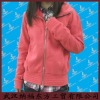 Fashion women's full zipper sweatershirt
