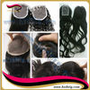 Top quality 100% human hair top closure