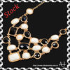 necklaces jewelry Fashion Golden Chain Oval Round Square Black White Resin Necklace AS0321