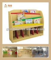Wood Book Shelf For Kindergarten & School