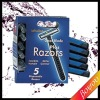 Disposable shaving razor set