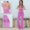 100% Cotton Two Tone Women's Yoga Wear
