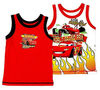 new branded white boys vest tops 2 color/pack