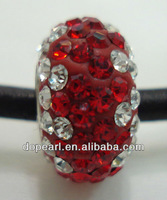 14mm big hole red cross beads for bracelets