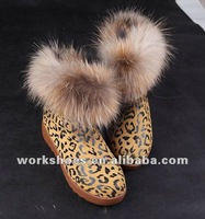 DALIBAI 2012 Delivery fast latest lady leather warm snow boots