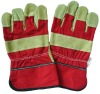 AB grade quality new design reflective canvas working glove