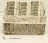 S/4 Perfect Grey Wash Willow Storage Basket