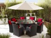 UV resistant garden furniture round wicker set
