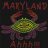 Maryland crab rhinestone transfer applique hotfix iron on