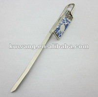Blue And White Porcelain Metal Bookmark For Books