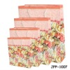 Custom string handle pink flower pattern recycling paper bag