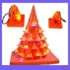 plastic traffic cone key chain