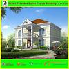 Beautiful two-storey model white external wall decoration prefabricated villa