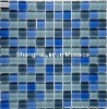 blue wall tile 23x23x8mm swimming pool glass mosaic