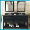 Wood double basin marble top with 70 inch bathroom vanity cabinet HTBC-K127
