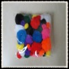 whole sell high quality plush poms pom crafts