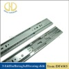 Three-fold soft closing ball bearing slide