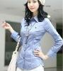 guangzhou factory price women shirt,long sleeve ,free size