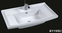fashional design middle edge wash sink