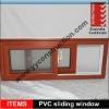 PVC sliding window design with AS2208 double glazing glass