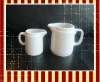 big & small ceramic milk creamer