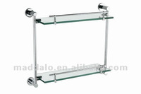 Double Layer Glass Shelf for Bathroom No.HJ-9524