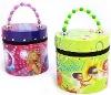 2012 new design handle cartoon girls tin box