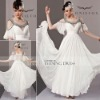 Coniefox White Elegant Formal Evening Dress With Hanging Sleeves 81239