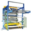 Textile fabric several times calendering seven rollers calender machine